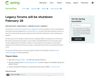 forum.springframework.org screenshot