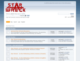 forum.starwreck.com screenshot