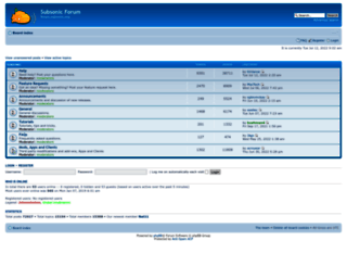 forum.subsonic.org screenshot