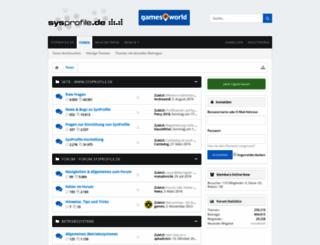 forum.sysprofile.de screenshot