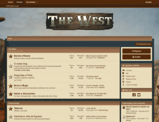 forum.the-west.com.pt screenshot