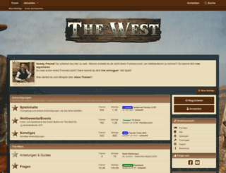 forum.the-west.de screenshot