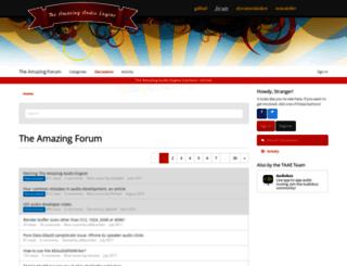 forum.theamazingaudioengine.com screenshot