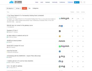 forum.thethingsnetwork.org screenshot