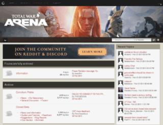 forum.totalwararena.com screenshot