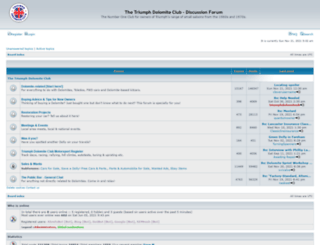 forum.triumphdolomite.co.uk screenshot