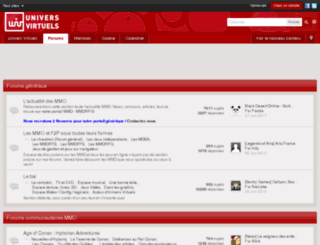 forum.univers-virtuels.net screenshot