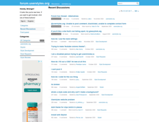 forum.userstyles.org screenshot