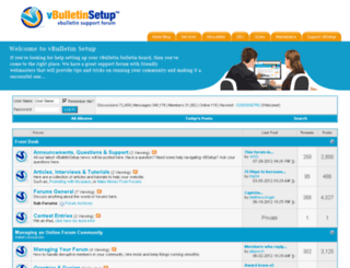 forum.vbulletinsetup.com screenshot