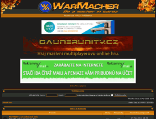 forum.warmacher.com screenshot