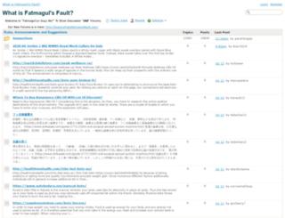 forum.whatisfatmagulsfault.com screenshot
