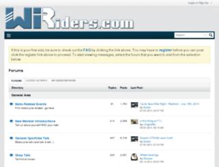 forum.wiriders.com screenshot