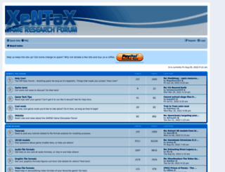 forum.xentax.com screenshot
