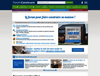 forumconstruire.com screenshot
