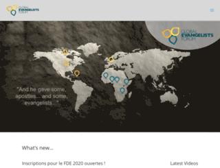 forumdesevangelistes.org screenshot