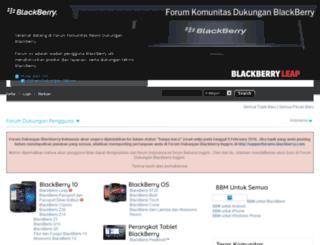 forumdukungan.blackberry.com screenshot
