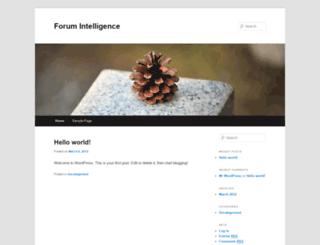 forumintelligence.com screenshot