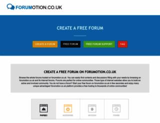 forumotion.co.uk screenshot