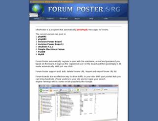 forumposter.org screenshot