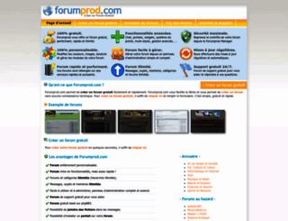 forumprod.com screenshot