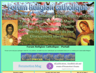 forumreligioncatholique.com screenshot