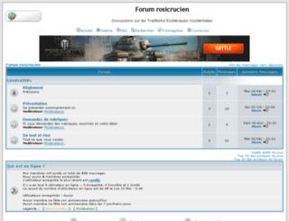 forumrosicrucien.forumdediscussions.net screenshot