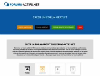 forums-actifs.net screenshot