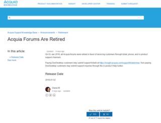 forums.acquia.com screenshot