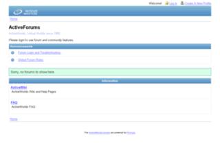 forums.activeworlds.com screenshot