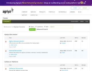 forums.agriya.com screenshot