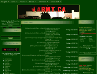 forums.army.ca screenshot