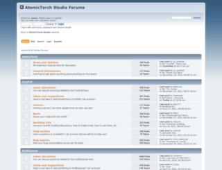 forums.atomictorch.com screenshot