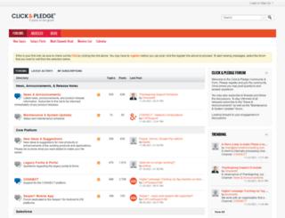 forums.clickandpledge.com screenshot