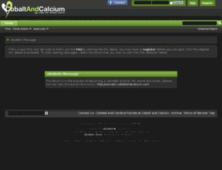 forums.cobaltandcalcium.com screenshot