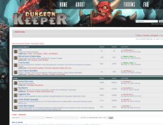 forums.dungeonkeeper.com screenshot