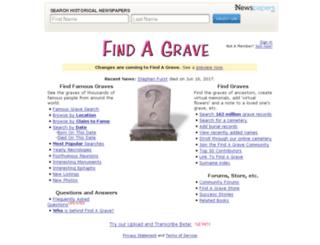 forums.findagrave.com screenshot