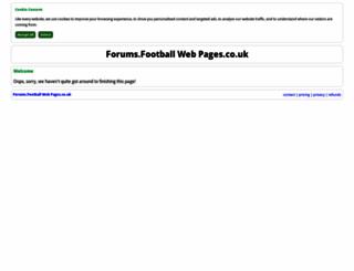 forums.footballwebpages.co.uk screenshot