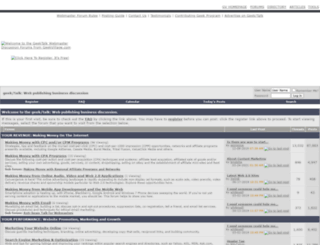 forums.geekvillage.com screenshot