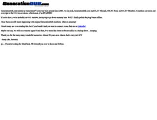 forums.generationdub.com screenshot