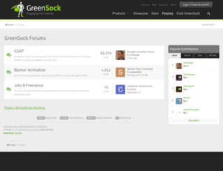 forums.greensock.com screenshot