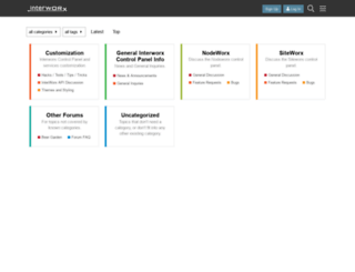 forums.interworx.com screenshot