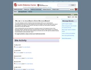 forums.joslin.org screenshot