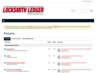 forums.locksmithledger.com screenshot