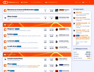 forums.macgeneration.com screenshot