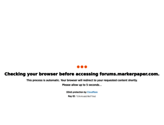 forums.markerpaper.com screenshot