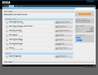 forums.mmajunkie.com screenshot