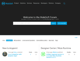 forums.mulesoft.org screenshot