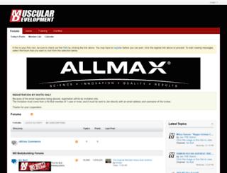 forums.musculardevelopment.com screenshot