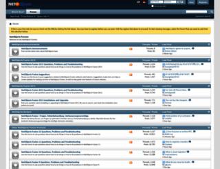 forums.netobjects.com screenshot
