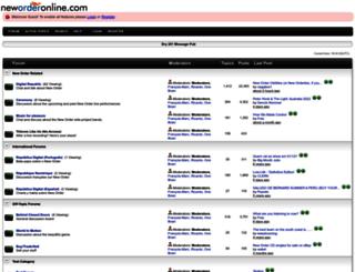 forums.neworderonline.com screenshot